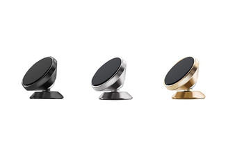 Two-Pack Universal 360° Rotation Car Dashboard Magnetic Phone Mount - Three Colours Available