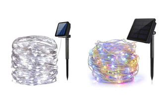 200-LED Solar-Powered String Lights - Two Colours Available