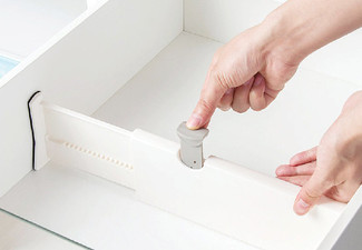 Two-Pack of Adjustable Expandable Drawer Dividers