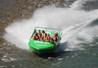 Amuri Jet Boat Ride with Meal Voucher - Seven Options Available