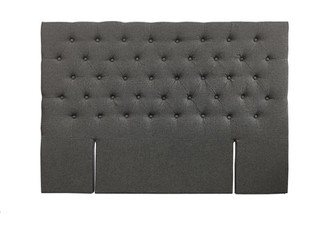 Charcoal Fabric King Bed Headboard