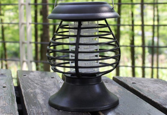 Outdoor Solar-Powered Mosquito Zapper Lantern - Option for Two