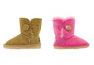 Auzland Australian Sheepskin Kids Button UGG Boots - Two Colours Available