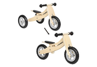Two-in-One Wooden Balance Bike