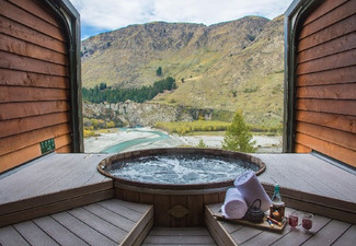 Per-Person, Twin Share, Two-Night Romantic Queenstown Break incl. Flights & Four-Star Accommodation & One-Hour at the Onsen Hot Pool Spa incl. Drinks & Transport - Option for Three Nights