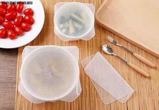 16-Pack of Reusable Silicone Fresh Food Wraps - Option for Two Packs Available