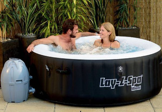 Bestway Inflatable Miami Lay-Z-Spa with 81 Massage Jets