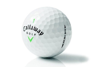 $30 for a 12-Pack of Callaway HX Bite White Golf Balls (value $49.99)