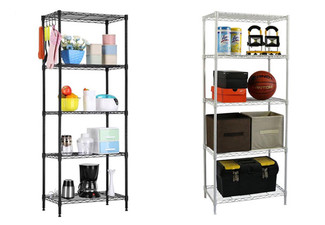 Five-Tier Steel Storage Shelf - Two Colours Available