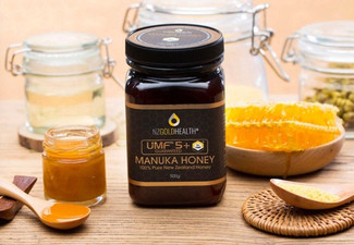 NZ Goldhealth 100% Natural Manuka Honey UMF 5+ 500g - Options for up to 10 Jars