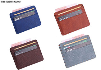 Slim Card Holder with ID Window - 10 Colours Available with Free Delivery
