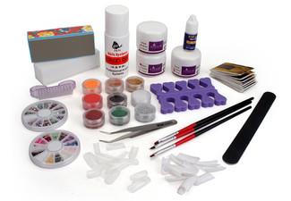 $18 for a Full Acrylic Nail Art Starter Kit Set