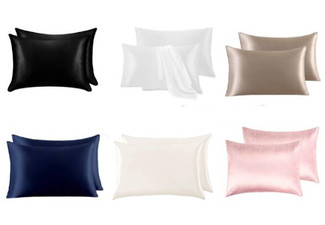 Two-Pack of Mulberry Silk Pillow Cases - Seven Colours Available