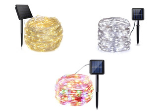 Solar-Powered LED String Lights - Three Colours & Three Lengths Available