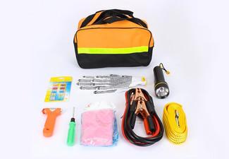 $19.90 for a Nine-Piece Roadside Emergency Tool Kit