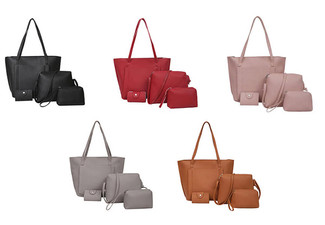 Four-Piece Handbag Set - Five Colours Available with Free Delivery