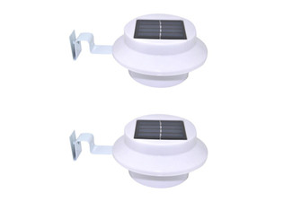 Two Solar-Powered Outdoor LED Gutter Lights - Two Options Available & Option for Four