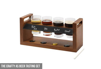 The Crafty As Beer Tasting Set - Option for Six-Pack Crafty Glasses