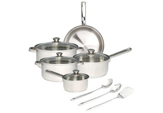 12-Piece Stainless Steel Cookware Set