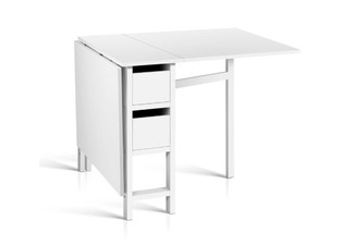 Foldable White Dining Table