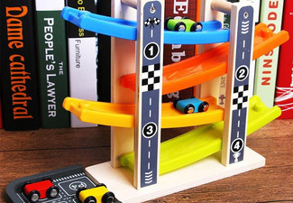 Wooden Four-Tier Car Slide Toy