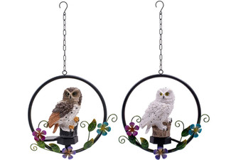 Owl Wind Chime & Solar Light - Two Colours Available & Option for Two