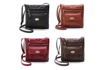 Cross-Body Bag with Clasp - Four Colours Available