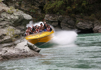 25-Minute Goldfields Jet Boat Experience on the Kawarau River - Option for up to Four Adults or Family Pass
