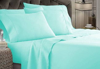 1800TC Ultra-Soft Microfibre Sheet Set - Seven Sizes & 10 Colours Available