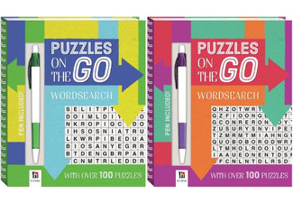 Two-Pack of On-The-Go Puzzles with Free Delivery