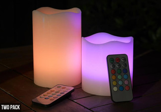$10.99 for Two LED Remote Controlled Flameless Candles or $15.99 for Three