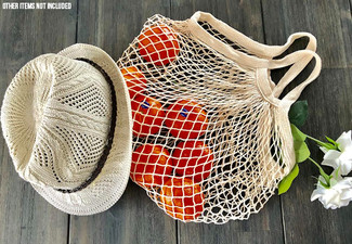 Two-Pack ECO Cotton Mesh Grocery String Bags