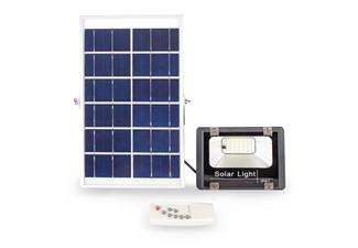 36 LEDs Outdoor Solar-Powered Flood Light with Remote Control - Option for Two