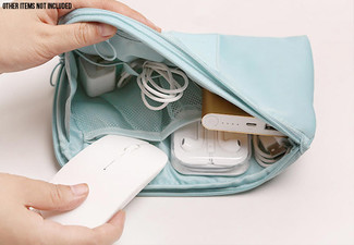 One Travel Cable Storage Pouch with Free Delivery - Option for Two with Four Colours Available