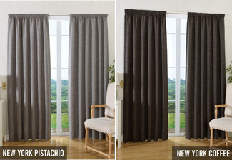 Thermal Pencil Pleat Curtain - 13 Colours & Six Sizes Available