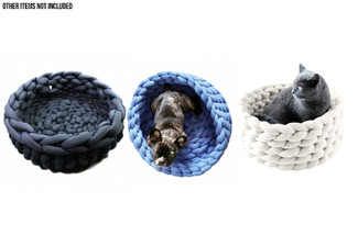 Small Knit Pet Bed - Five Colours Available with Free Delivery