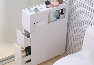 Slide-Out Bathroom Cabinet
