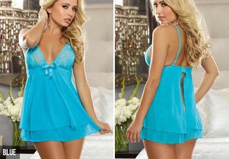 $15 for a Ladies' Open Back Night Dress – Available in Five Colours