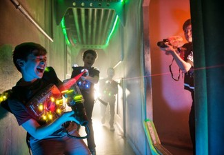 Junior Pass for Unlimited Games of Laser Tag 4.00pm - 9.00pm, Valid Monday to Thursday - Option for Adult or Family Pass Available