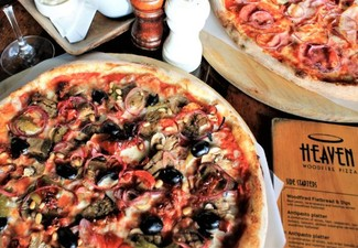 Two Large Wood-Fired Pizzas, Fries & Dessert Pizza for Two People - Options for up to Six People