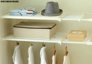 Adjustable Storage Expandable Shelf - Three Sizes Available