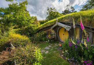 Hobbiton Movie Set Pass with Small Guided Return Tour From Auckland for One Person – Option for Youth or Child Pass