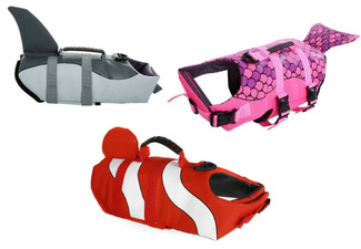 Dog Life Jacket Vest - Three Designs & Two Sizes Available