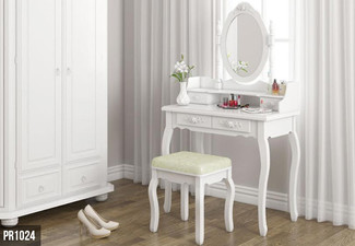 Dressing Table with Stool - Three Styles Available