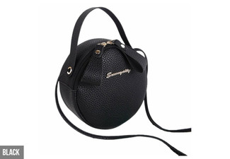 Round Crossbody Handbag - Five Colours Available with Free Delivery