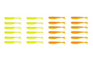 24-Pack of Soft Worm Baits Fishing Lures - Option for a 48-Pack with Free Delivery
