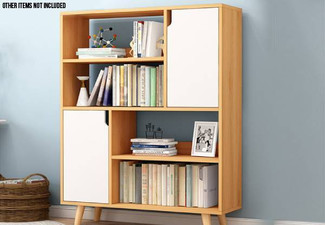 Simplistic Bookshelf Storage Cabinet - Two Colours Available