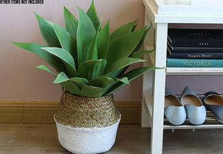 Woven Seagrass Flower Basket - Two Sizes Available & Option for Two