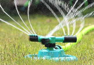 Durable Rotary Three-Arm Water Sprinkler - Option for Two with Free Delivery