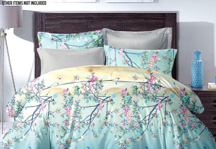 Light Teal Duvet Cover Set - Three Sizes Available